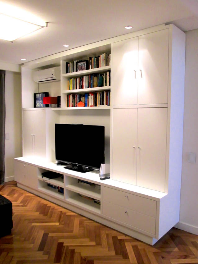 mueble audio y video estudio ajc