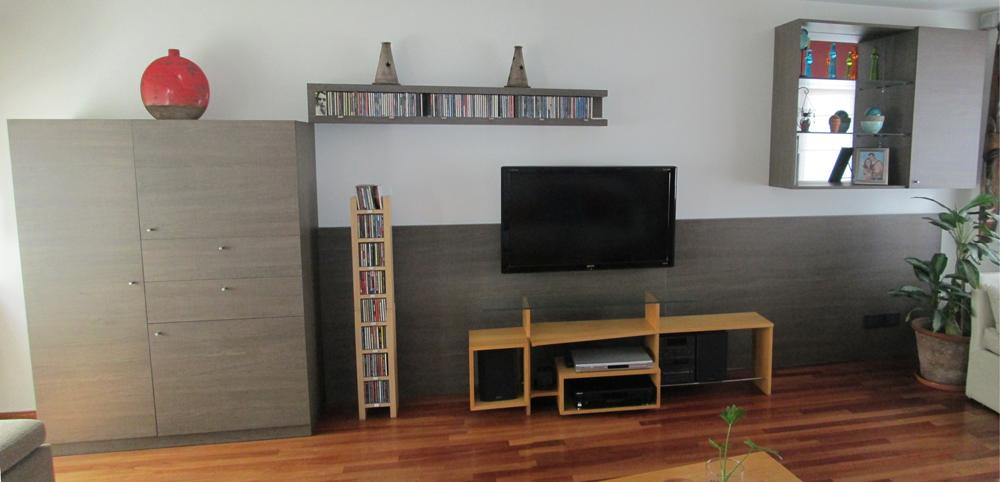 Hogar living mueble av en melamina estudio ajc for Proyectos de muebles en melamina